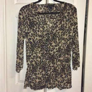 INC leopard print top